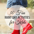 30 Fun Kids Activities for Rainy Days via ParadisePraises.com