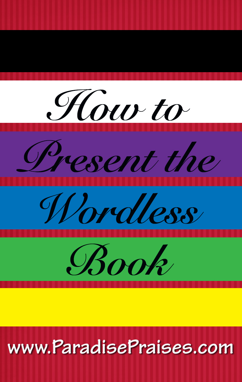 Bright image regarding wordless book gospel printable