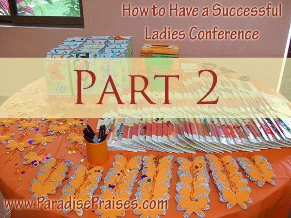 Planning a Successful Ladies Event, Part 2