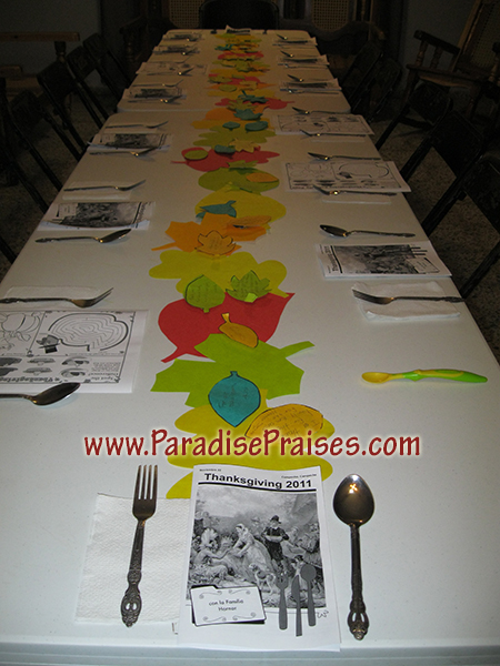 Autumn Inspiration - Thankful Table Runner www.ParadisePraises.com
