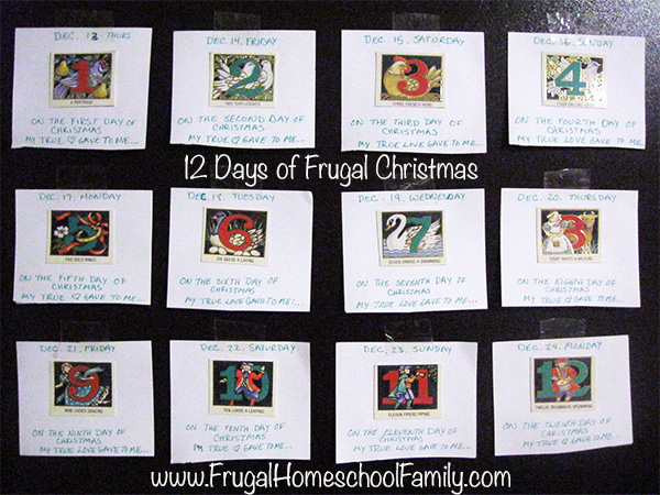 Twelve Days of Frugal Christmas www.FrugalHomeschoolFamily.com