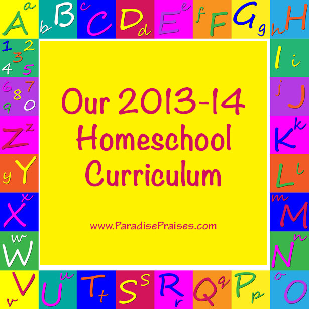 Our 2013-14 Homeschool Curriculum