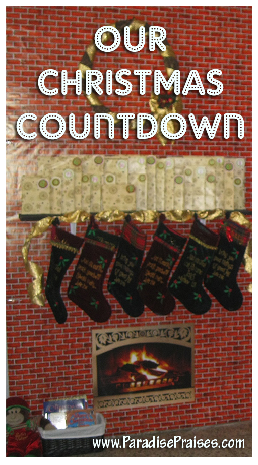 Our Christmas Countdown www.ParadisePraises.com