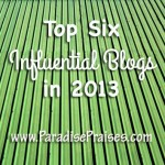 Top 6 influential blogs in 2013 www.ParadisePraises.com