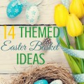 14 themed easter basket ideas along with over 100 edible ideas to fill the baskets. ParadisePraises.com