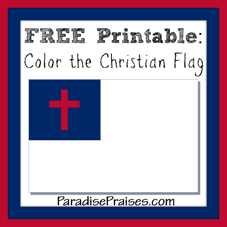 color the Christian Flag
