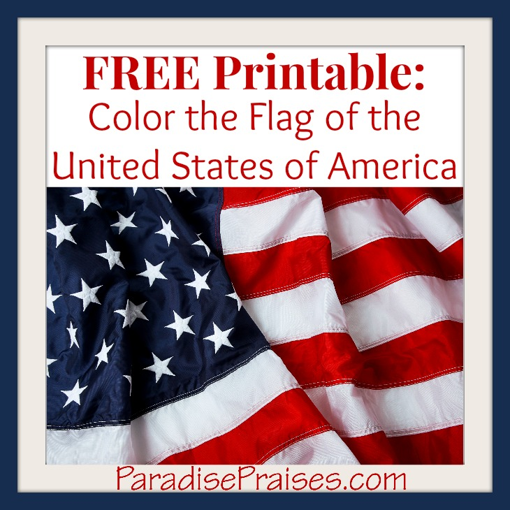 color the American flag