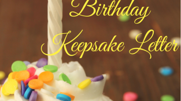 Family Traditions: the Birthday Letter