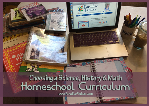 science history math homeschool curriculum ParadisePraises.com