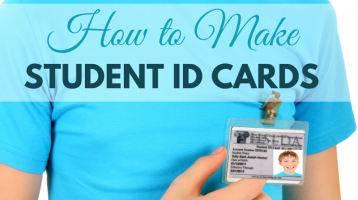 How to Make Student ID Cards (with free printable)