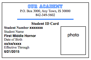 How to make student id cards free printable for Homeschool id template