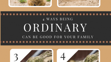 How Being Ordinary Can be Good for Your Family www.ParadisePraises.com