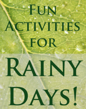 Rainy Day Activities for Kids www.ParadisePraises.com
