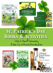 St. Patrick's Day Books & Activities, What to Read Link Up at ParadisePraises.com