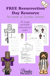 Resurrection Day Activities for kids by ParadisePraises.com