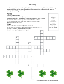 Free Printable Trinity Crossword Puzzle at ParadisePraises.com