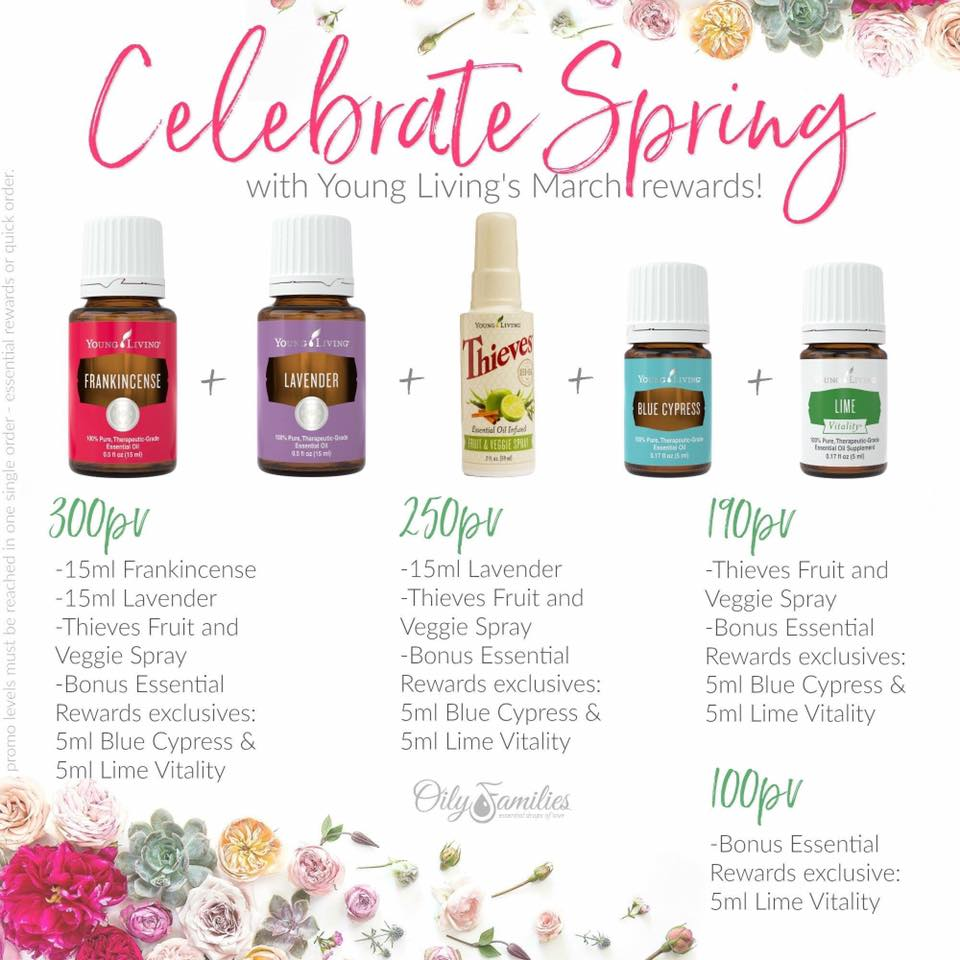 march young living specials