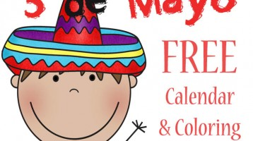 Free 5 de Mayo Calendar and Coloring Pages