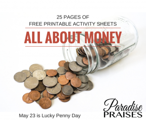 ALL ABOUT MONEY free printables at ParadisePraises.com