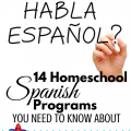 14 Homeschool Spanish Programs you Need to Know About via ParadisePraises.com