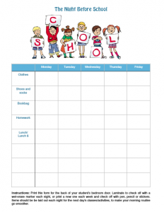 Free Printable School Checklist via ParadisePraises.com