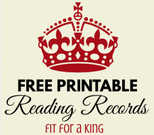 Reading Record Free Printable via paradisepraises.com