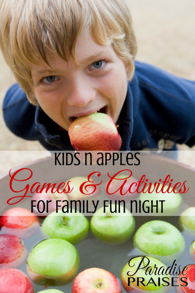Apple Family Fun Night, Games and Kids Activities the whole family will love via Paradise Praises.com