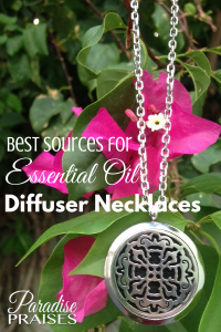 The best sources for essential oil diffuser necklaces: Get the list at ParadisePraises.com