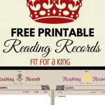 Free Reading Record Printable fit for a King via ParadisePraises.com