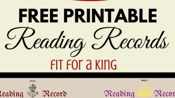 Free Reading Record Printable Chart