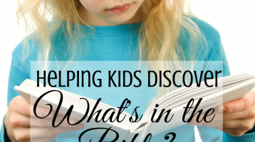 Helping Kids Discover What's in the Bible?