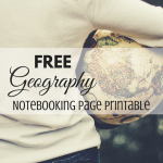Free Geography Notebook Page Printable from ParadisePraises.com
