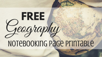 Free Geography Notebook Page Printable