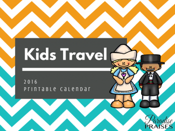 Kids Travel calendar