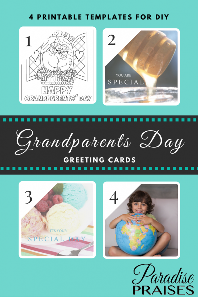 Clever image regarding grandparents day cards printable