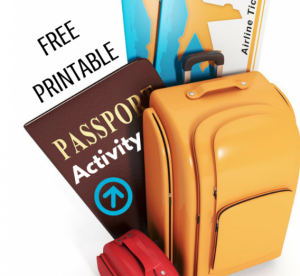 Free Printable Passport Activity via ParadisePraises.com