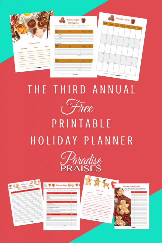holiday planner and holiday coupons