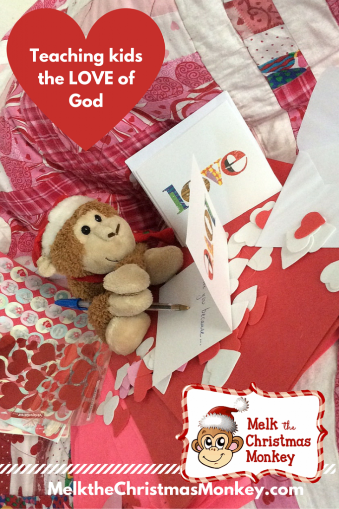 Melk teaches children of God's unconditional love, a love that is independent of whether we are naughty or nice. MelktheChristmasMonkey.com