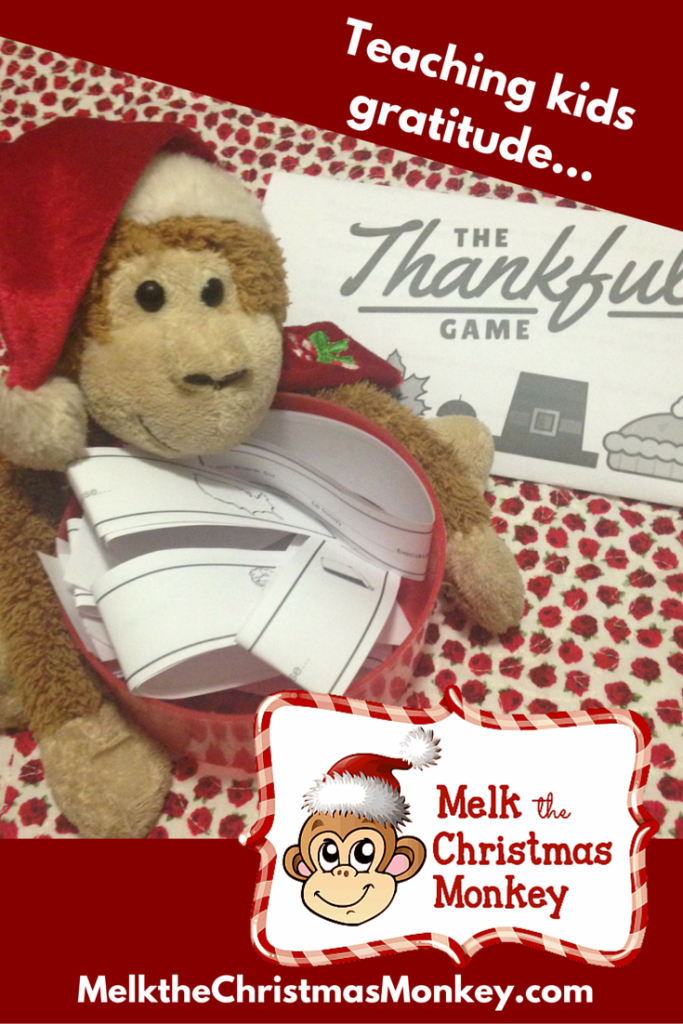 Melk is a thankful monkey. He can teach your children who God is and why we should serve him.
