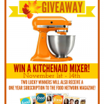 Holiday cooking Kitchen Aid and Food Network Giveaway Nov 1-14 on ParadisePraises.com