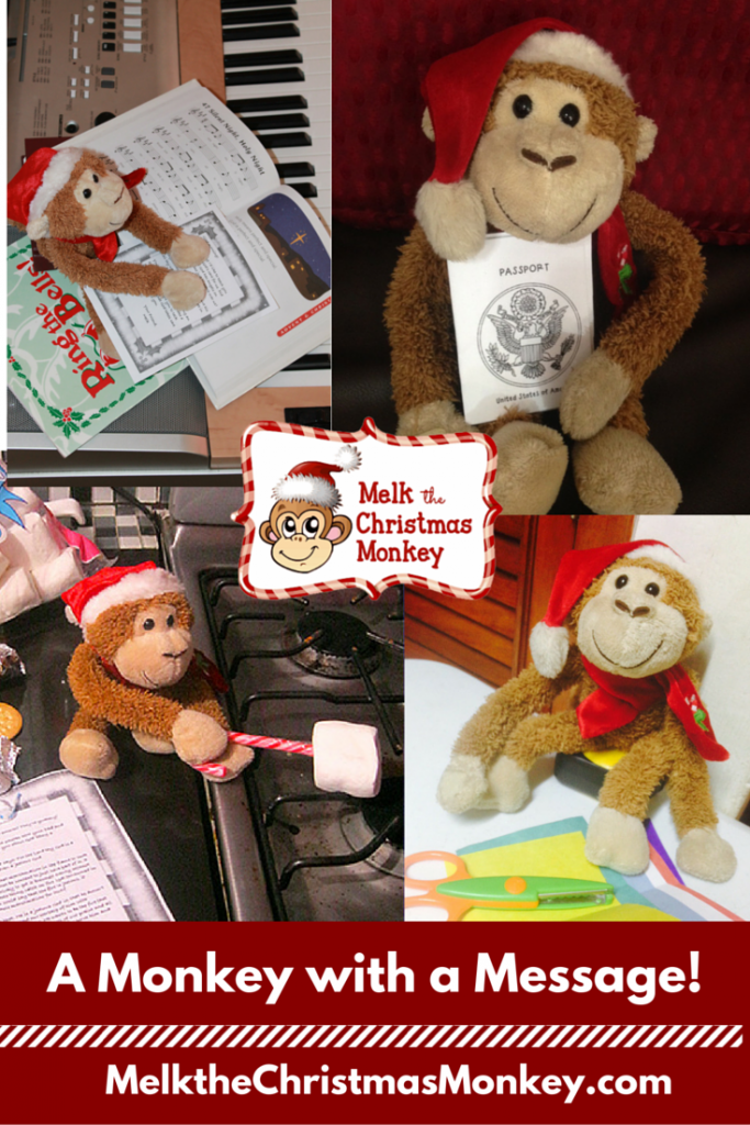 He's a monkey with a message. Let Melk fill your Advent days with Bible based activities centered on God. Melkthechristmasmonkey.com