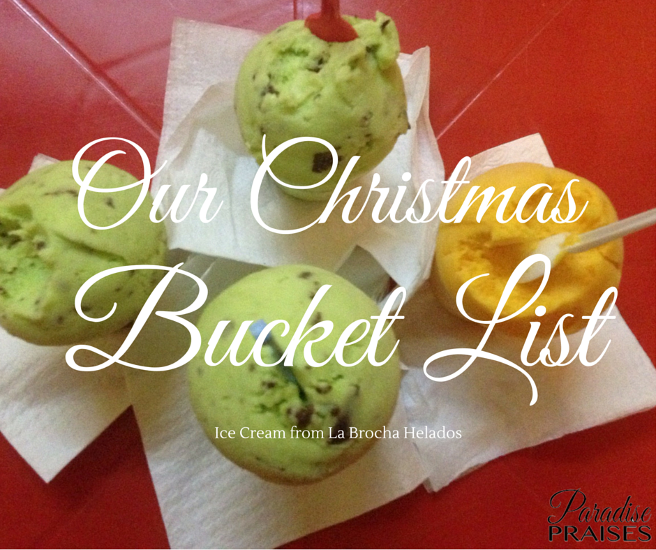 Our Christmas Bucket List, Ice Cream via paradisepraises.com
