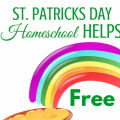 Free homeschool resources for St. Patricks Day including printable, curriculum, craft, and art projects. ParadisePraises.com