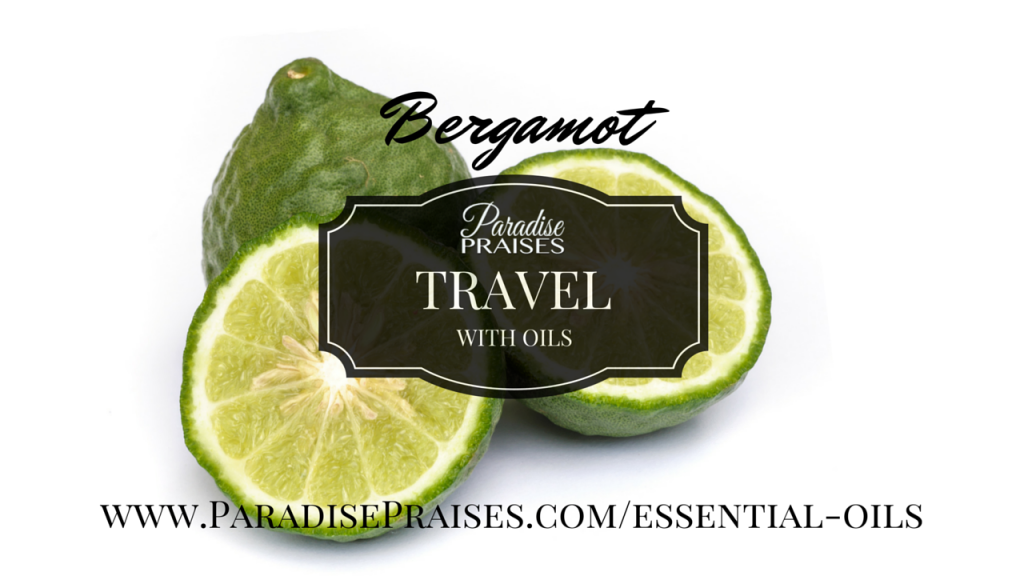 bergamot travel with oils video by paradisepraises.com
