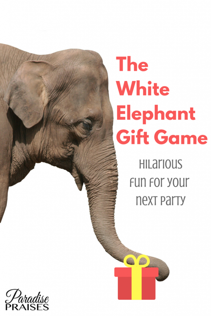 The White Elephant Gift Game, the how to's of this hilarious party game via paradisepraises.com