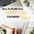 How to plan your homeschool calendar year successfully via paradisepraises.com