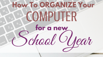 How to organize your computer for a new school year via paradisepraises.com
