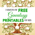 3 Sources for Free Genealogy Printables for Kids via ParadisePraises.com