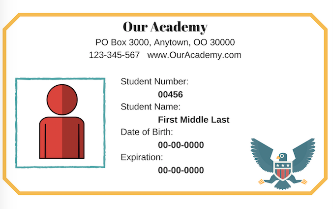 homeschool id card template - how to make student id cards free printable