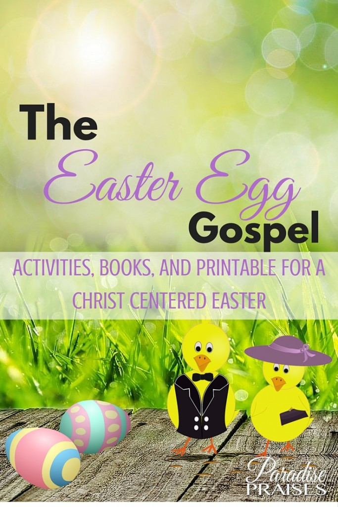 Christ centered easter activities, books, printables, and activities. ParadisePraises.com